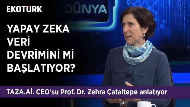 Hangi yapay zeka üzerinde çalışılıyor? | Prof. Dr. Zehra Çataltepe