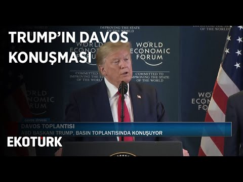 ABD Başkanı Trump, Davos Zirvesi'nde Konuşuyor | 22 Ocak 2020
