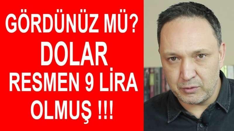 Gördünüz mü Dolar Resmen 9 Lira Olmuş !!!