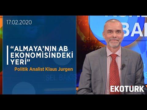 Politik Analist Klaus Jurgen Almanya'nın AB Ekonomisindeki Yerini Değerlendirdi