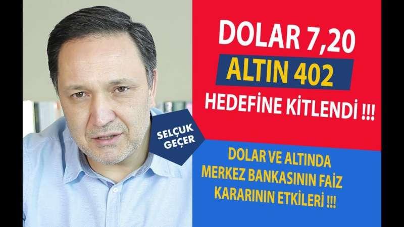 DOLAR 7,20 ALTIN 402 HEDEFİNE KİTLENDİ !!!