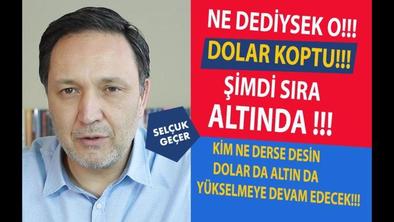 DOLAR KOPTU ŞİMDİ SIRA ALTINDA !!!
