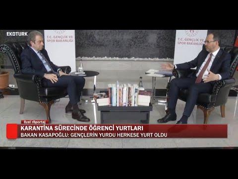 Gençlik ve Spor Bakanı Mehmet Muharrem Kasapoğlu, Ekotürk'te konuk oldu!