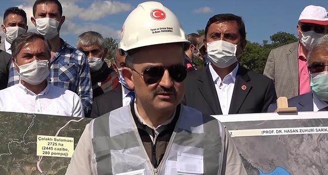 Bakan Pakdemirli açıkladı: 3 ilin tarımsal gelirini arttıracak 'baraj' projesi