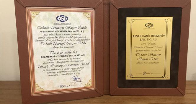 Assan Hanil, 'OSD Tedarik Sanayi Başarı Ödülü'nü aldı