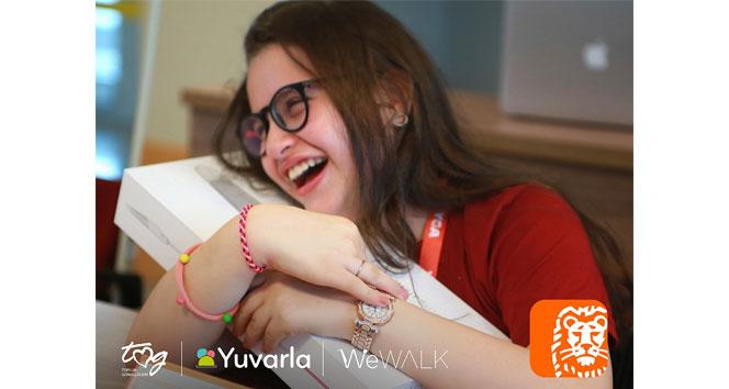 ING'den görme engelli öğrencilere akıllı baston desteği