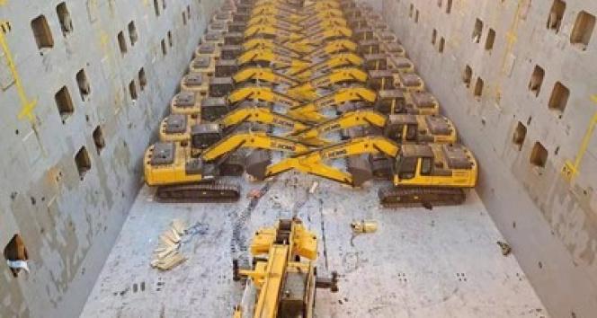 Çin'den yola çıkarılan inşaat makinesi teçhizatı BRI ülkelerine ulaştırılacak