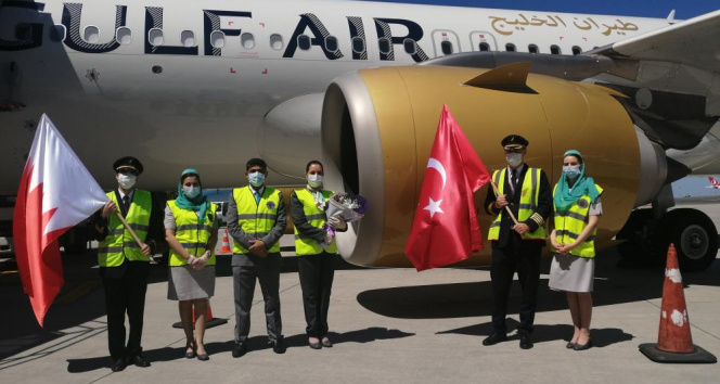 Bahreynli havayolu şirketinden İstanbul'a 14 ay sonra ilk uçuş