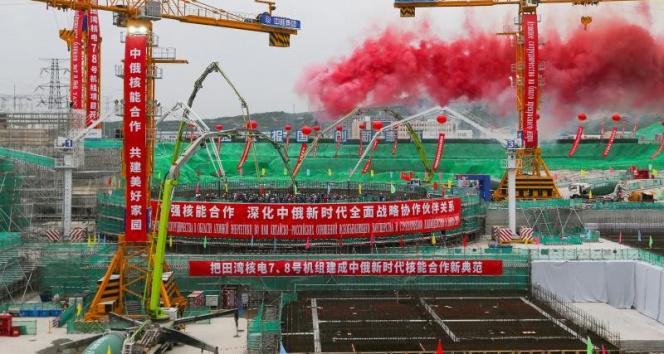 Tianwan ve Xudapu Nükleer Güç Santrallerinin yeni güç ünitelerinin temeli atıldı