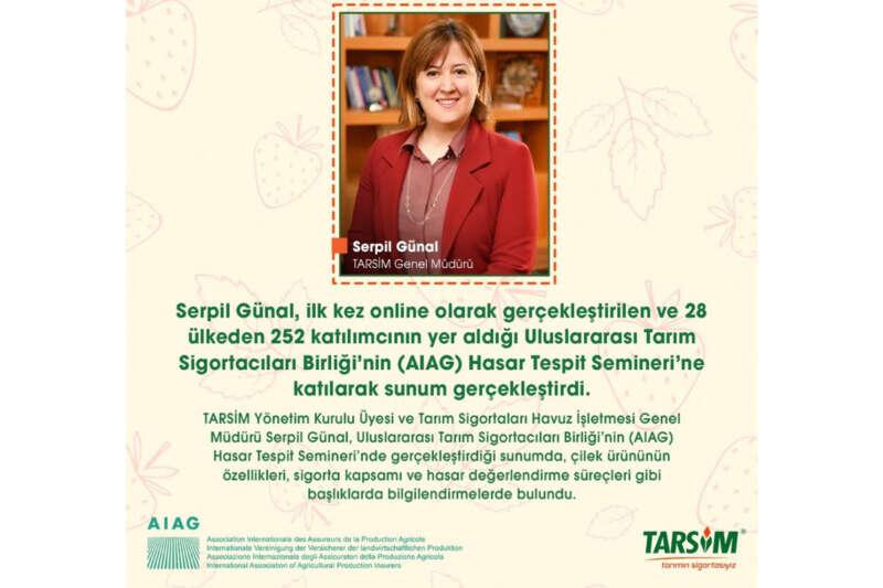 TARSİM, Uluslararası Tarım Sigortacıları Birliği'nin seminerine katıldı