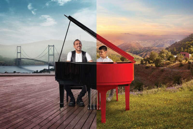 Haluk Levent ve Bager'den 5G teknolojisi ile bin 400 kilometreden piyano düeti