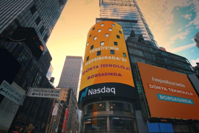 Hepsiburada'nın, NASDAQ'taki piyasa değerlemesi 4 milyar dolara ulaştı