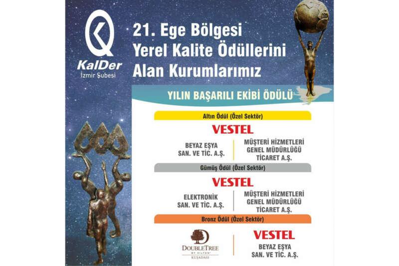Yılın Başarılı Ekibi Ödülü Vestel'e verildi